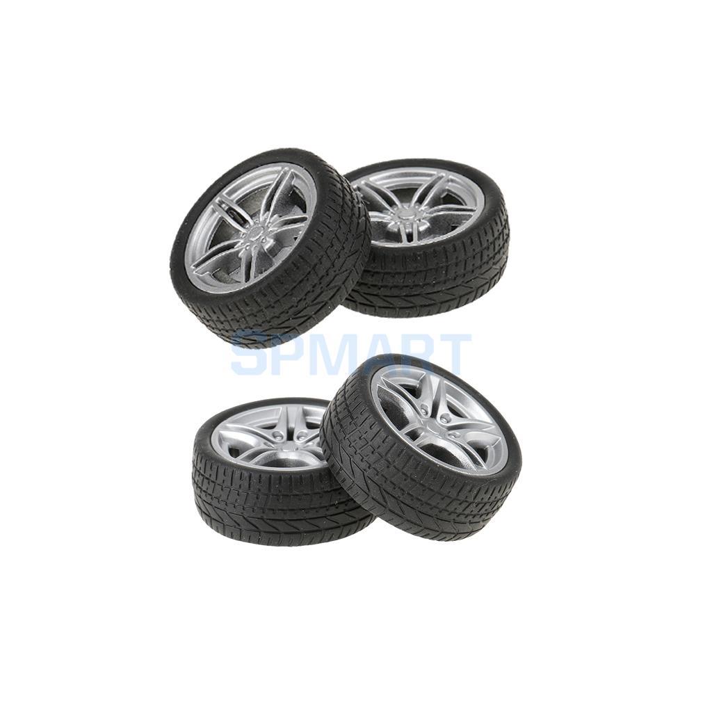 4pcs 40/48mm Simulation Rubber Wheel Tire Wheel Toy Model DIY RC Spare Parts