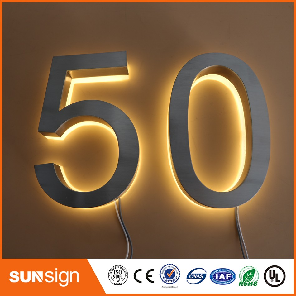 buy custom stainless steel led house numbers lighted from reliable led house numbers suppliers on sunsignad store