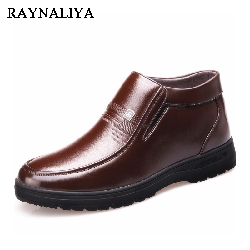 New 2018 Winter Warm Fashion Men Shoes Brand Design Ankle Boots Casual Genuine Leather High Top Shoes For Boy BH-A0008