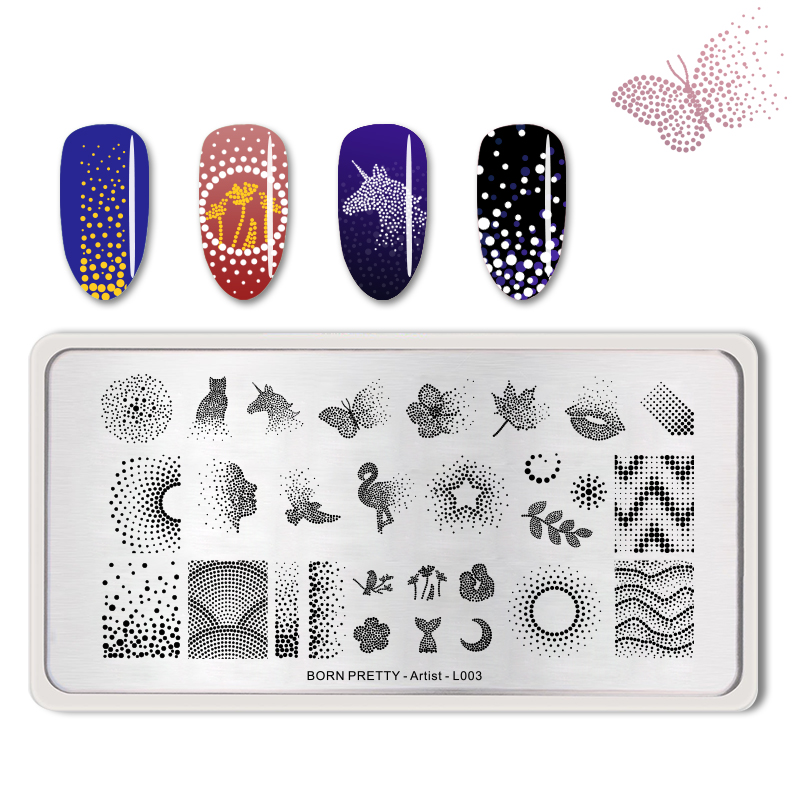 Geometric Reverse Stamping Nail Art Born Pretty Review: Aliexpress.com : Buy BORN PRETTY Nail Stamping Plates