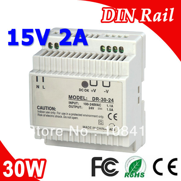 цена на DR-30-15 LED Din Rail Switching Power Supply 15V 2A 30W Output