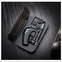 K6 leyenda Bluetooth Headset Manos Libres Estéreo Inalámbrico Bluetooth 4.0 Conductor Del Coche auriculares bluetooth + Auriculares Caja De Almacenamiento