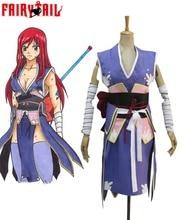 Envío Gratis Fairy Tail Titania Erza Scarlet Siempre Emperatriz Armor Kimono Anime Cosplay Costume