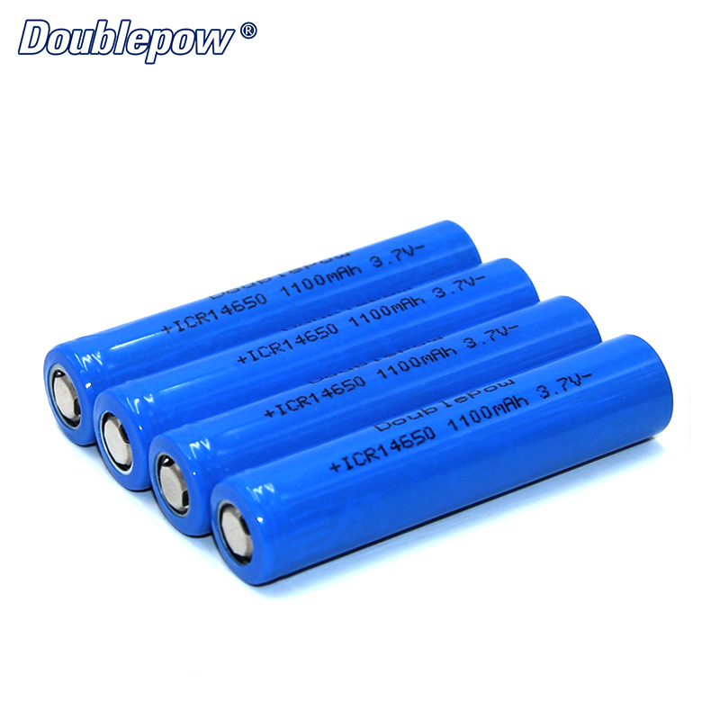 4pcs/Lot FREE SHIPPING Hot Sale Doublepow DP-14650 1100 mA 3.7V Li-ion rechargeable battery 14650 HIGH CAPACITY FOR FLASHLIGHT