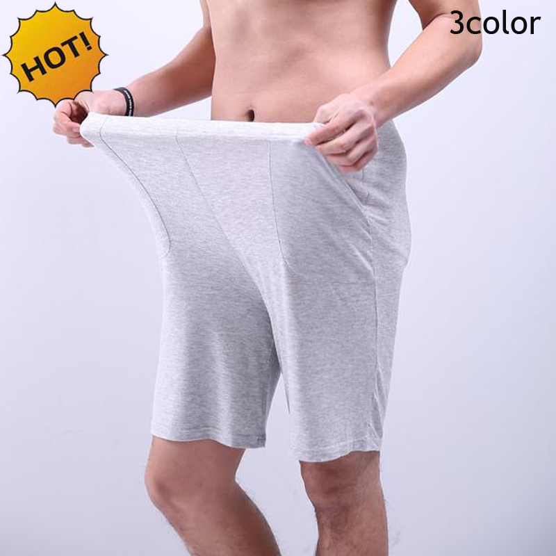 NEW 2020 Summer High Stretch Modal Mens Straight Baggy White Short Trousers Men Casual Joggers Thin Beach Plus Size 4Xl