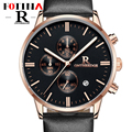 Small Dials Work Fotina Top Brand R Watch Men Business Blue Black Quartz Stop Watches Man Date Clock Leather Relogio Masculino