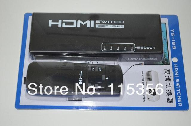 free shipping 5 in 1 HDMI Switch seclector HDMI 1.3b for HDTV DVD PS3 XBOX