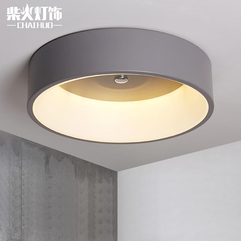 Современный минималистский светодиодный потолочный светильник Северной Европейского искусства ресторан спальня лампа кольцо Гостиная Оф