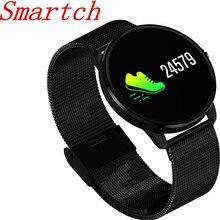 Smartch CF007s умный браслет красочные Экран монитор сердечного ритма крови Давление монитор уведомлением sms-сообщением Спорт трекер