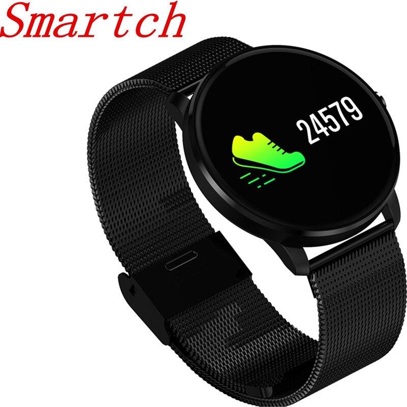 Smartch CF007s pulsera inteligente de pantalla de Monitor de ritmo cardíaco Monitor de presión arterial de notificación SMS deporte rastreador