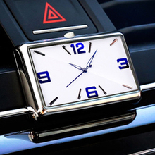 Car Quartz Watch Automobiles Interior Stick-On Auto Clock High Grade Auto Vehicle Dashboard Time Dis