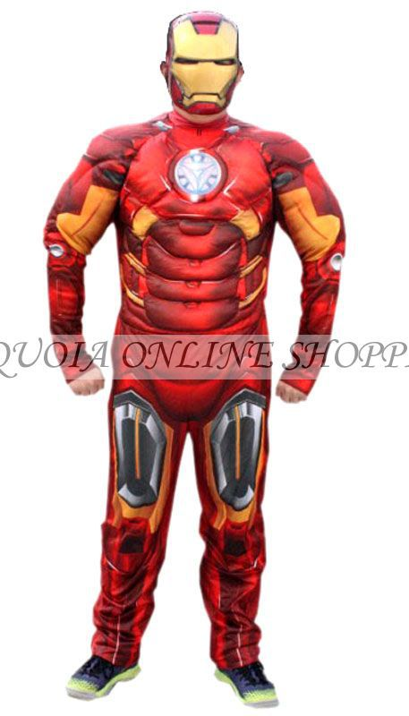 2015 Adult Iron Man Muscle Cosplay Costume Superhero Halloween Party Carnival Costumes Gifts D1940D - Sequoia Trading Company (No. 2 store)