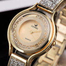 Women Fashion Waterproof Watch with stainless steel bangles (3 colors)