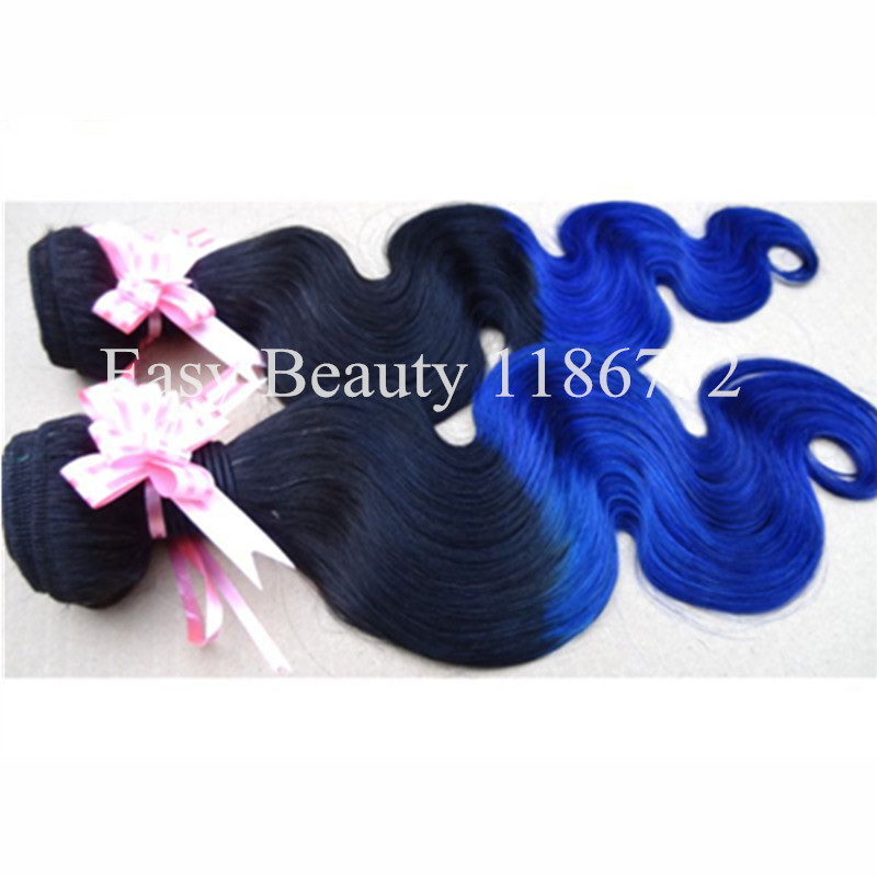 Blue Ombre Hair Extensions 1b Black Blue Cheap Body Wave Ombre