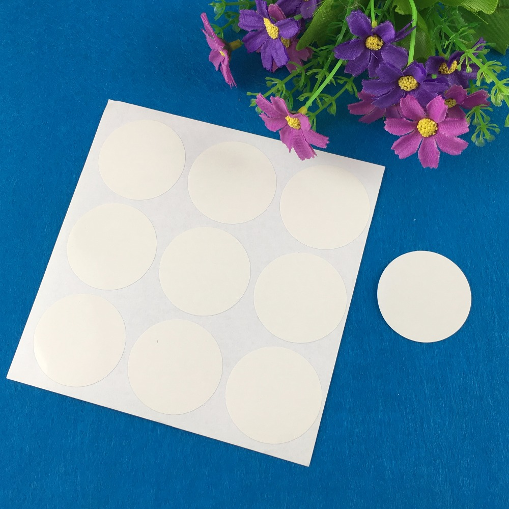 1200PCS/Lot 4cm Fashion round white paper Adhesive Labels sealing Stickers packaging For Jewelry/Box/gift/car/envelope