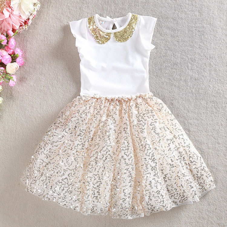f0d9731e180f HIHEART 2016 Fashion Baby Girls Sequin Mesh Shining Dresses Sets Little Girls  Shine Summer Beautiful Dresses Children Clothing-in Clothing Sets from  Mother ...