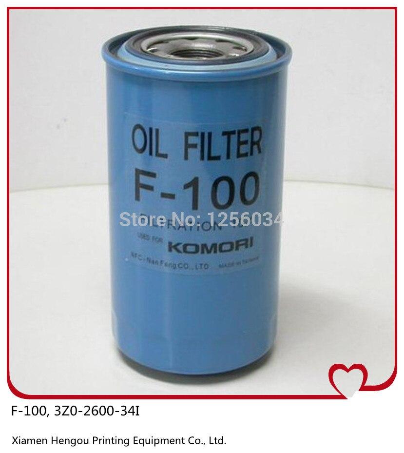 1 pezzo Komori filtro olio originale F-3Z0-2600-34I Komori, komori parti di ricambio filtartion 101 pezzo Komori filtro olio originale F-3Z0-2600-34I Komori, komori parti di ricambio filtartion 10