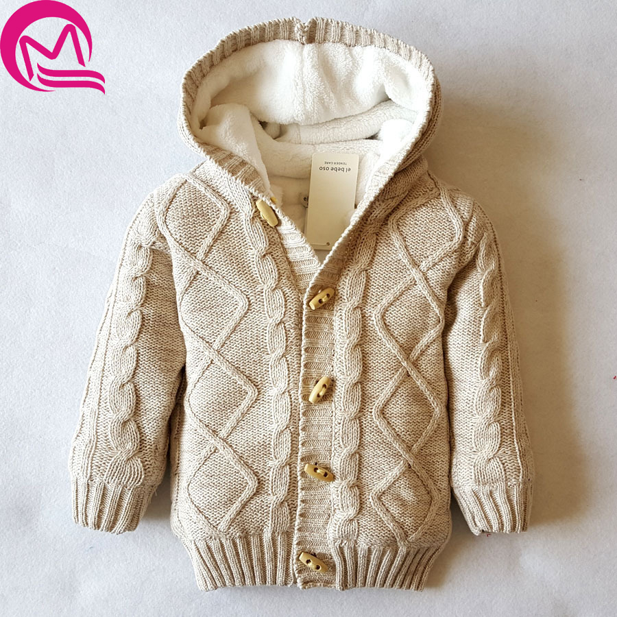 2017 NEW Autumn winter Girls Outerwear Coats Toddler Kids Baby Girls Outfit Clothes Button Knitted Sweater Cardigan Coat sweater girls yellow 80% wool knit clothes children child cardigan girl coats winter girl clothes kids sweaters toddler knitted