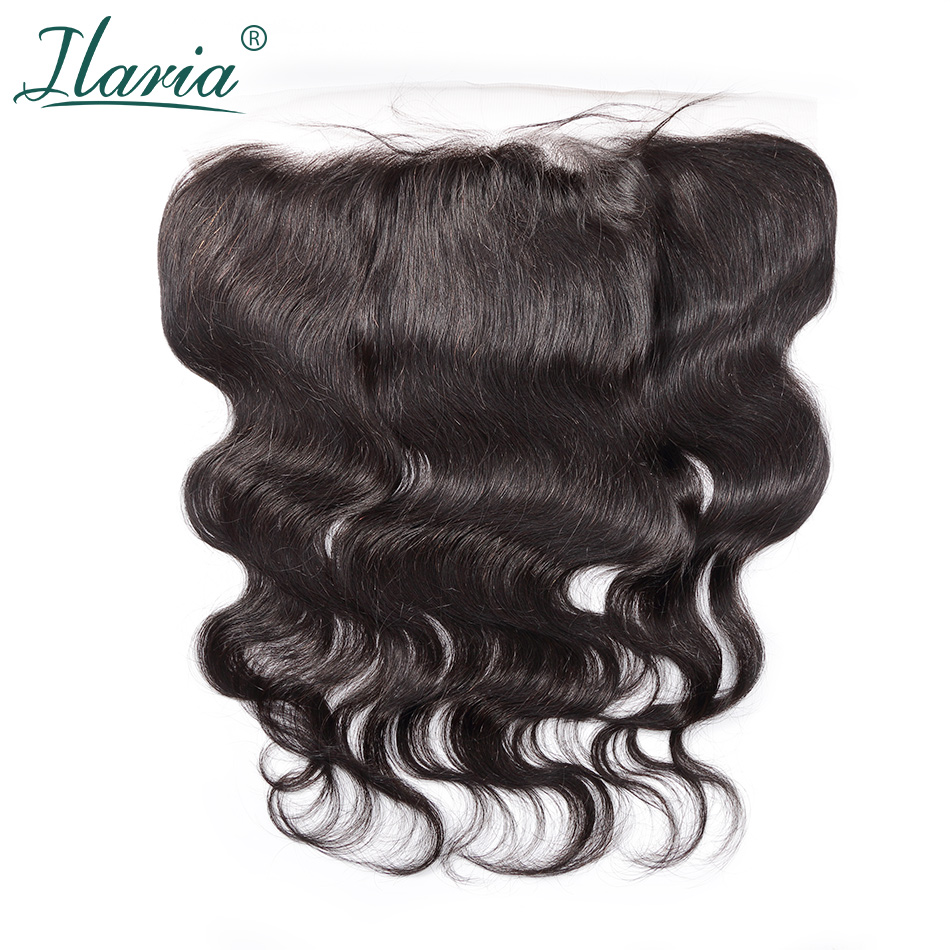 ILARIA HAIR Brazilian Human Hair Closure Body Wave 13x4 Ear To Ear Lace Frontal  Pre-Plucked With Baby Hair Bleached Knots