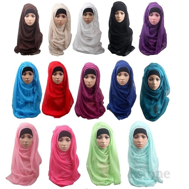 Fashion Islamic Turban Head Wear Band Neck Chest Cover Bonnet Muslim Short Hijab Shawls Arab Women Scarf