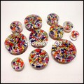 22 pcs Mix 11 Gauges 10 - 30 mm Multicolor dentro do túnel acrílico duplo Flared Saddle tampões de ouvido Piercing jóias