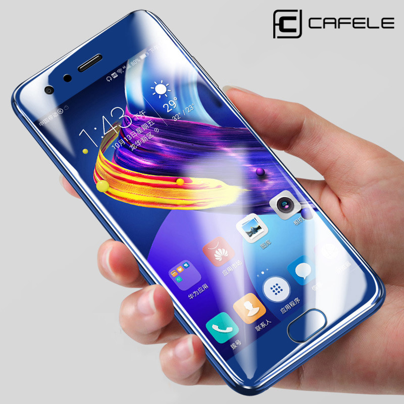 CAFELE Tempered Glass untuk Huawei P40 P30 P20 Pro Honor 20 10 9 8 Screen Protector HD Clear Protective Glass Front Film
