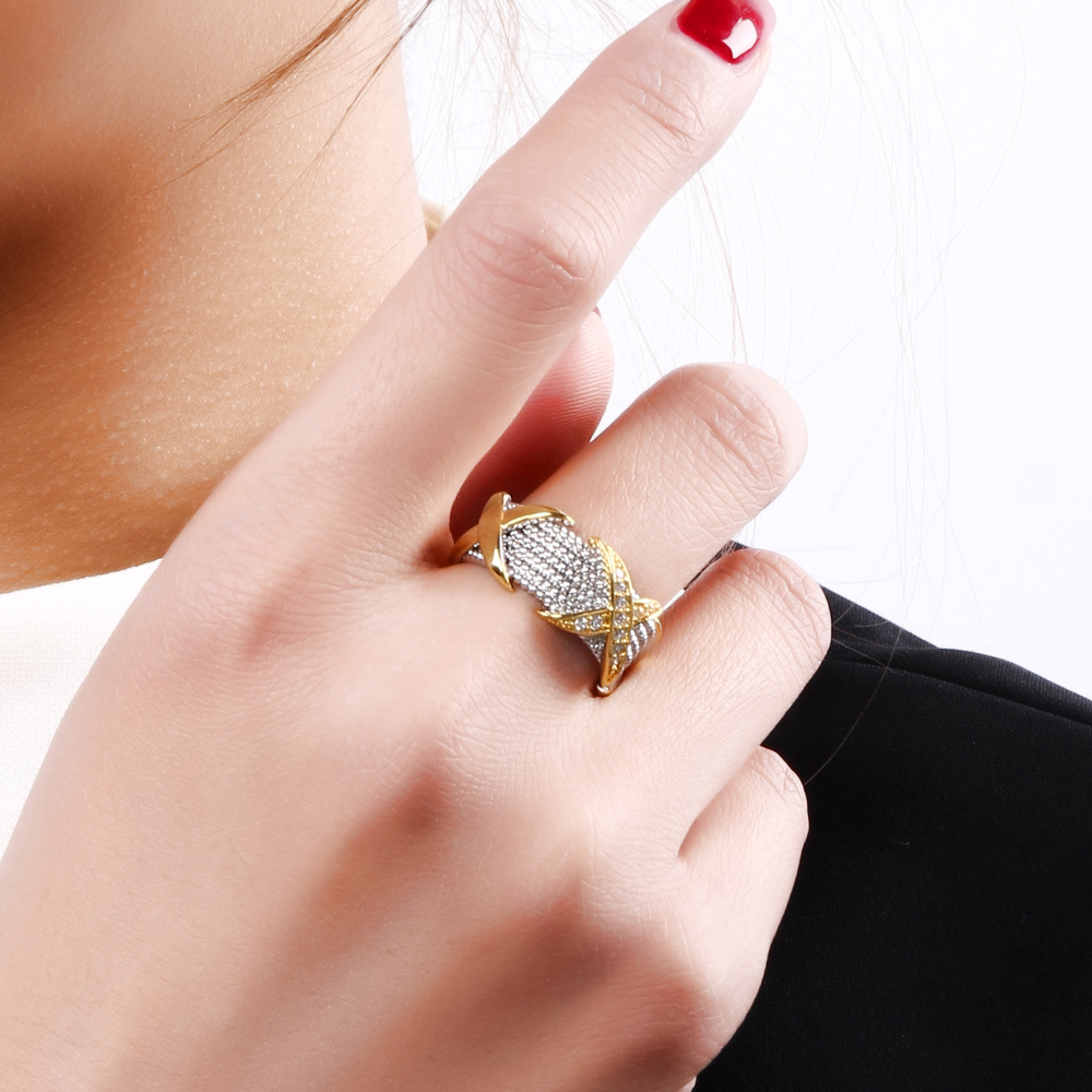 Casual Simple Rings for Women Zircon Jewelry Anniversary Gift ...