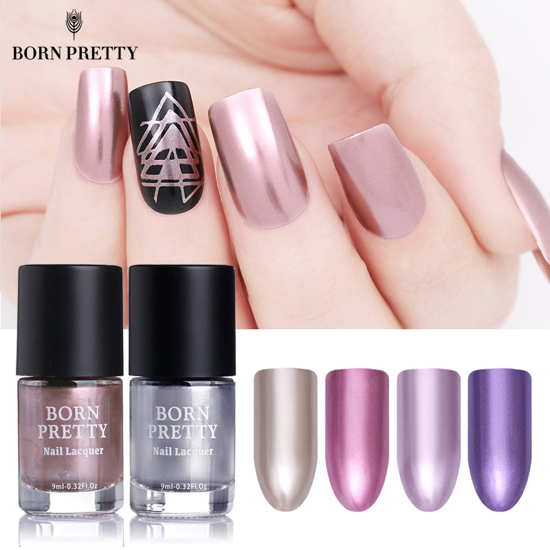 BORN PRETTY Mirror Effect Metallic Nail Polish 9ml Rose
