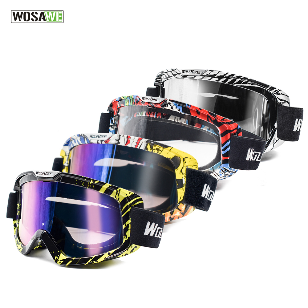 WOSAWE Ski Goggles Windproof UV Protection Hiking Motocross Snowboard Goggles Anti-fog Snow Glasses Multi Colors Skiing Eyewear women men motocross windproof bicycle motorcycle ski goggles eyewear motocross snowboard goggles glasses uv protection lens