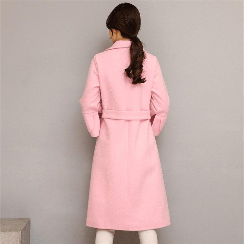 Élégant Pink Manteau Automne 2018 Green Printemps black Mode deep Manteaux Taille Coréenne Femmes Femelle B005 Lâche La red Laine army Femme Veste Pink Longues Plus Nouvelle pqA8xwOBq