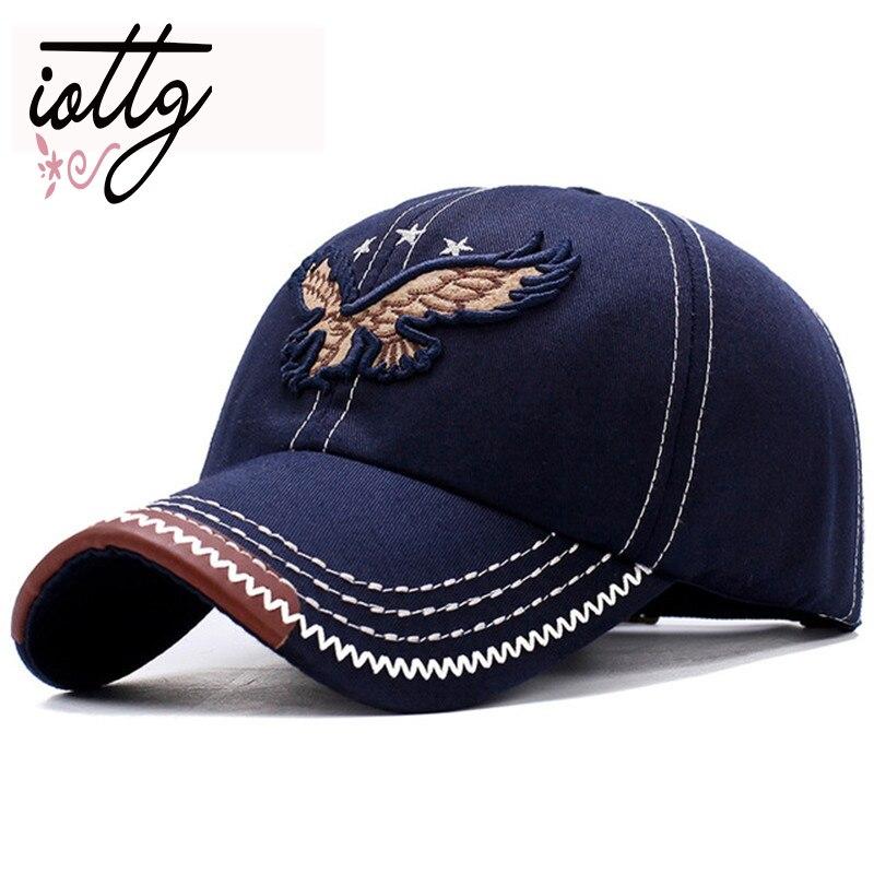 2018 nuevo Denim lavado pesado 3D águila bordado gorras de béisbol hombres mujeres deportes activo Casual sombrero un tamaño ajustable