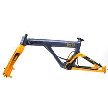 """JAVA NEO Carbon Frame Fork 20"""" 451 406 Folding Bike Frameset Disc Brake Caliper Brake 20 1 1/8"""" Foldable Rolling Frames Forks"""