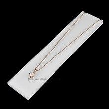Горизонтальные белые акриловое ожерелье держатель для украшений держатель Цепочки и ожерелья демонстрационная подставка Jewelry Дисплей Организатор Jewellery Holdes