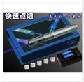 strong power Military blue laser pointer 20000mw/20w 450nm Flashlight burning match pop balloon,burn cigarette+5 cap+changer+box