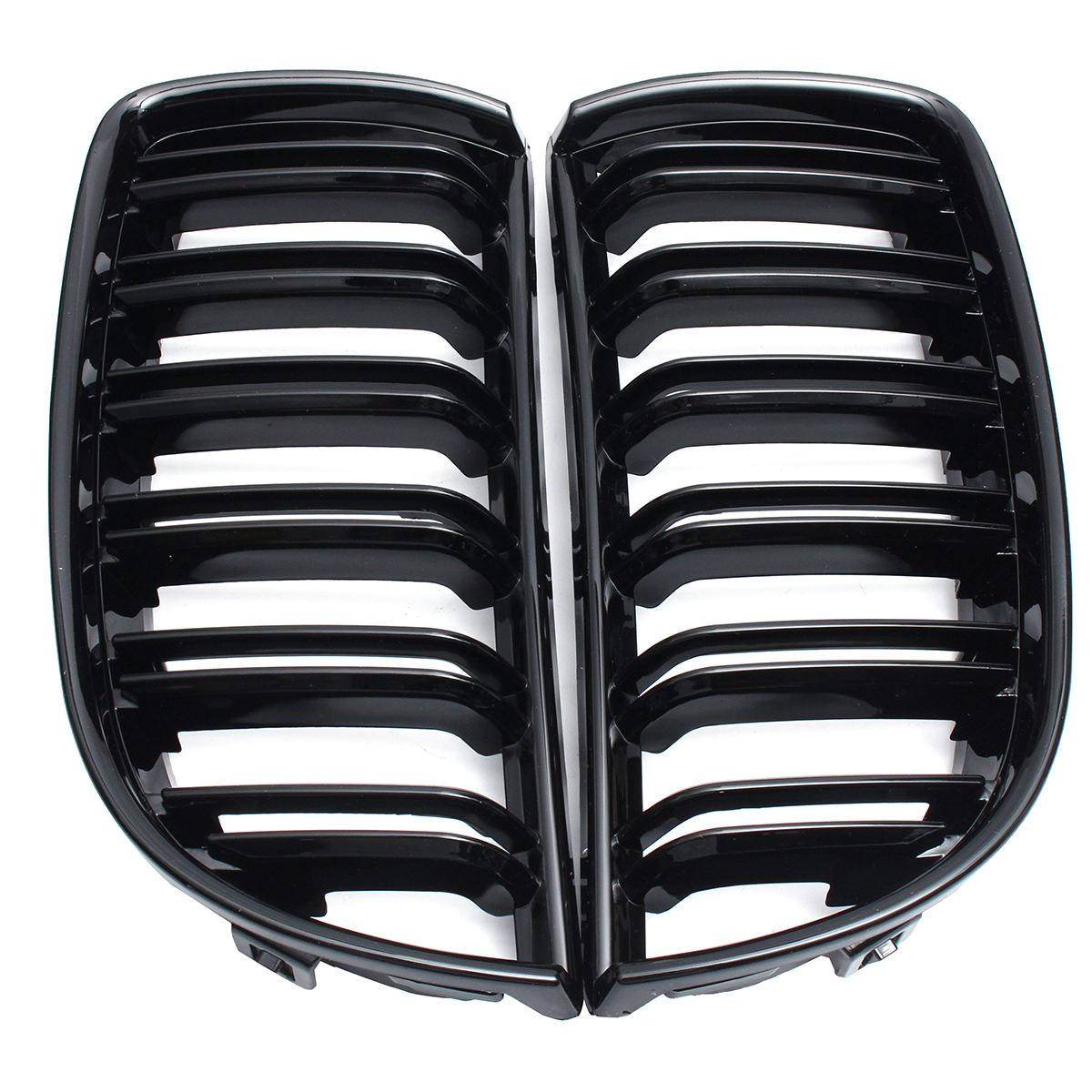 4 couleurs paire avant brillant mat carbone M couleur noir 2 ligne Double latte rein Grille Grill pour BMW E90 E91 4 porte 2005 06 07 2008 - 3