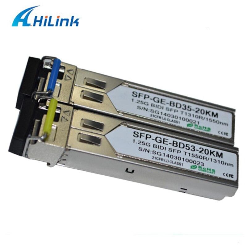 bilder für Freies Verschiffen!!! Fiber Optic Transceiver 1,25G WDM SFP 20 KM 1310/1550nm BIDI SFP 1,25 Gb SC/Lc-stecker DDM