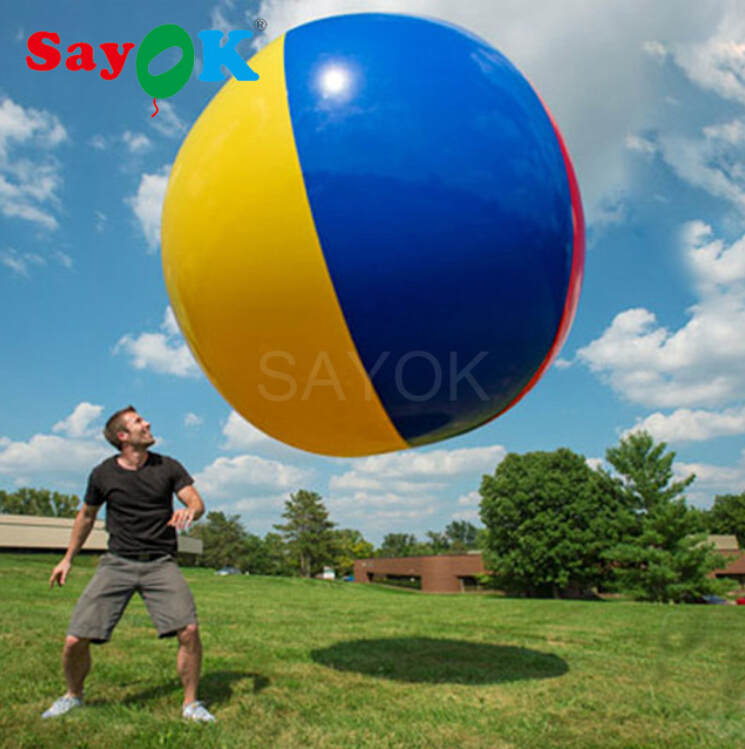 Sayok Inflatable Beach Ball Beach Large Colorful Volleyball Children Adults Outdoor Game Toys Fun Sport 1.5/2.0/3.0MSayok Inflatable Beach Ball Beach Large Colorful Volleyball Children Adults Outdoor Game Toys Fun Sport 1.5/2.0/3.0M