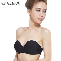 New 2014 Sexy Lingerie Brassiere Half Cup Bra Women Seamless Invisible Bras Sutian Female Underwear Strapless