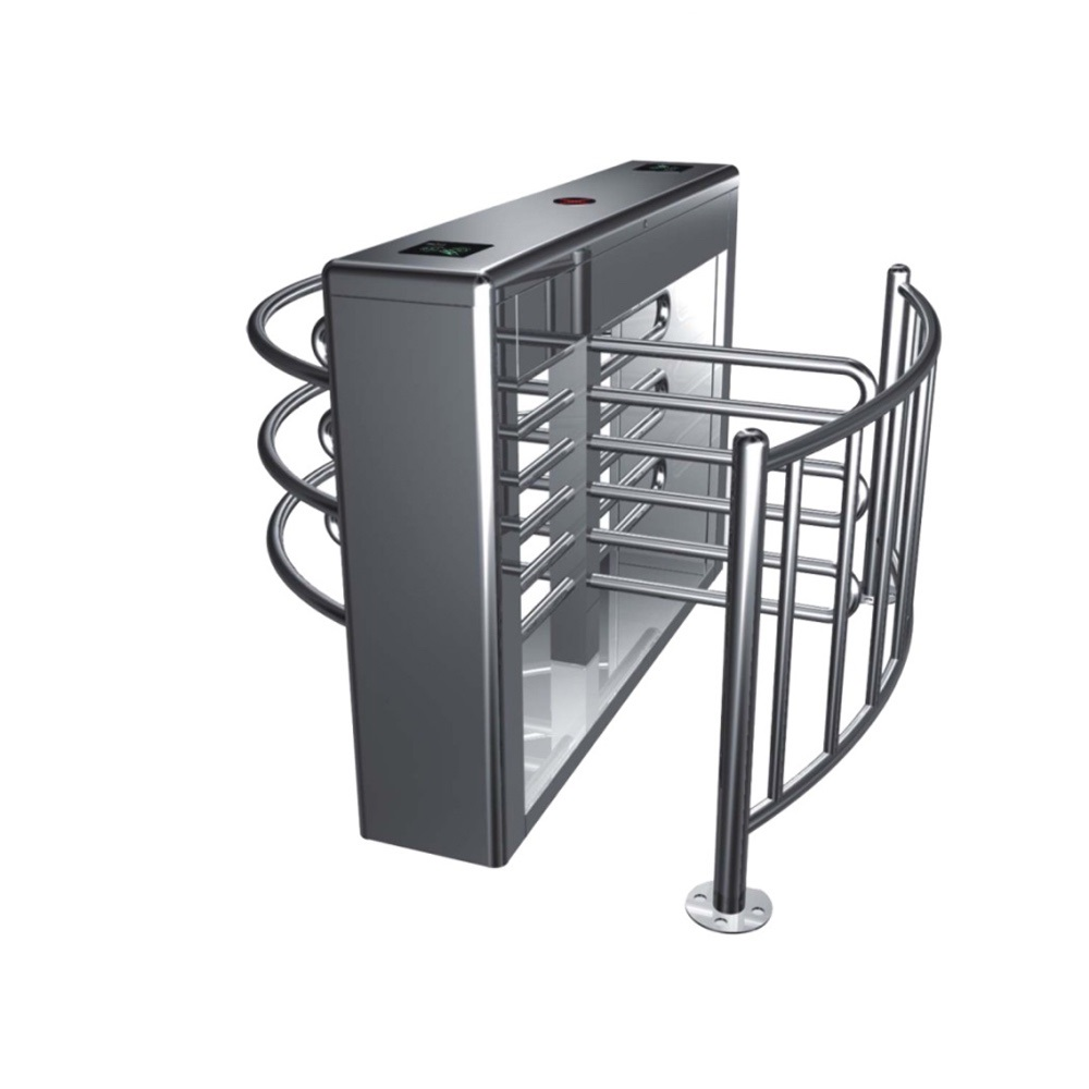 Half height turnstiles  for managing queue ticket with RS 485 connection swing door managing a scarce resource