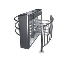 Half height turnstiles for managing queue ticket with RS 485 connection swing door