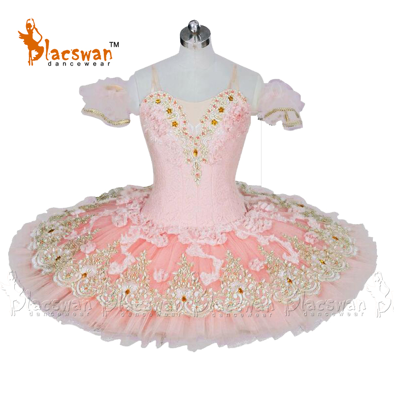 Rose Classique Tutus de Ballet Professionnel BT803 Platter Ballet Tutu Costumes Ballet Troupe Répétition Costume pour Fée Dragée
