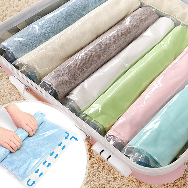 Vacuum Compressed Storage Bag E Save Home Vac Bags Quilt Tools Travel Accessories