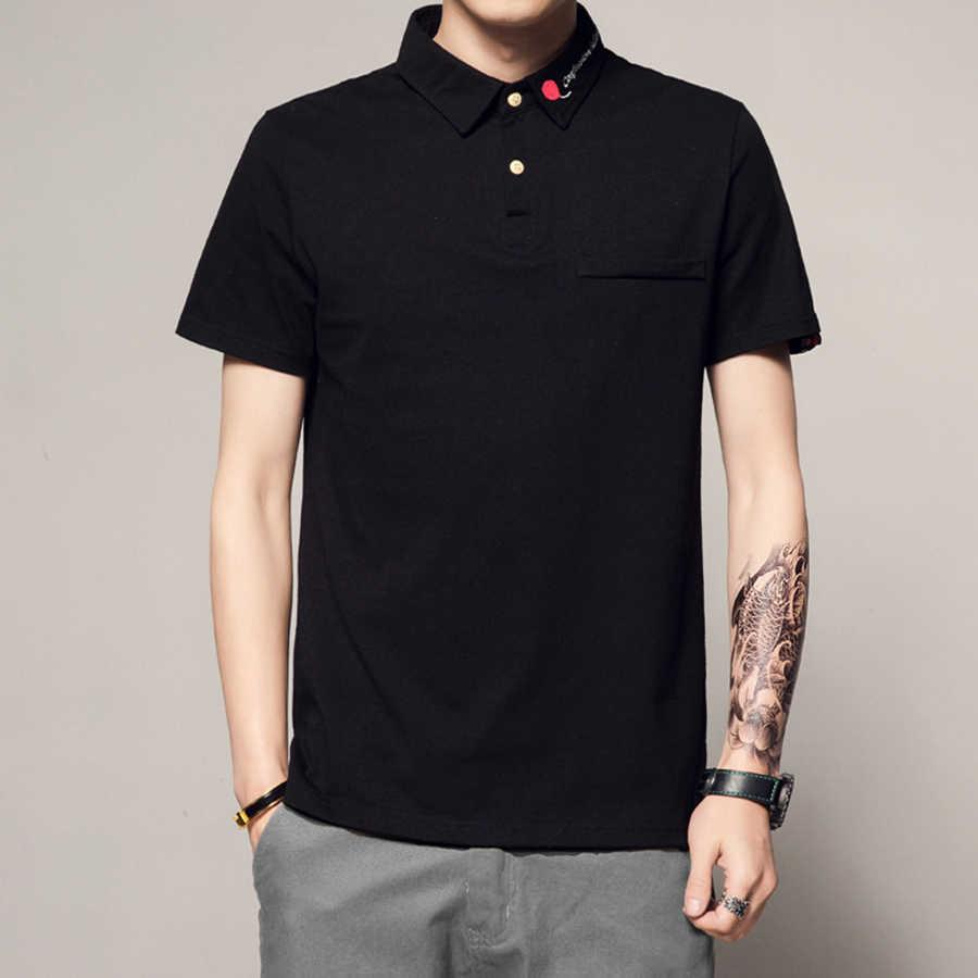 ブランド新メンズポロショートシャツ高品質ポロ男の子シャツ日本白シャツポロ Vetement オム 2019 ソリッドコットン