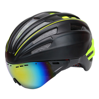 280g Goggles Cycling Helmet Insect Net Bicycle Helmet With Lens Double Layers In Mold Bike Helmet