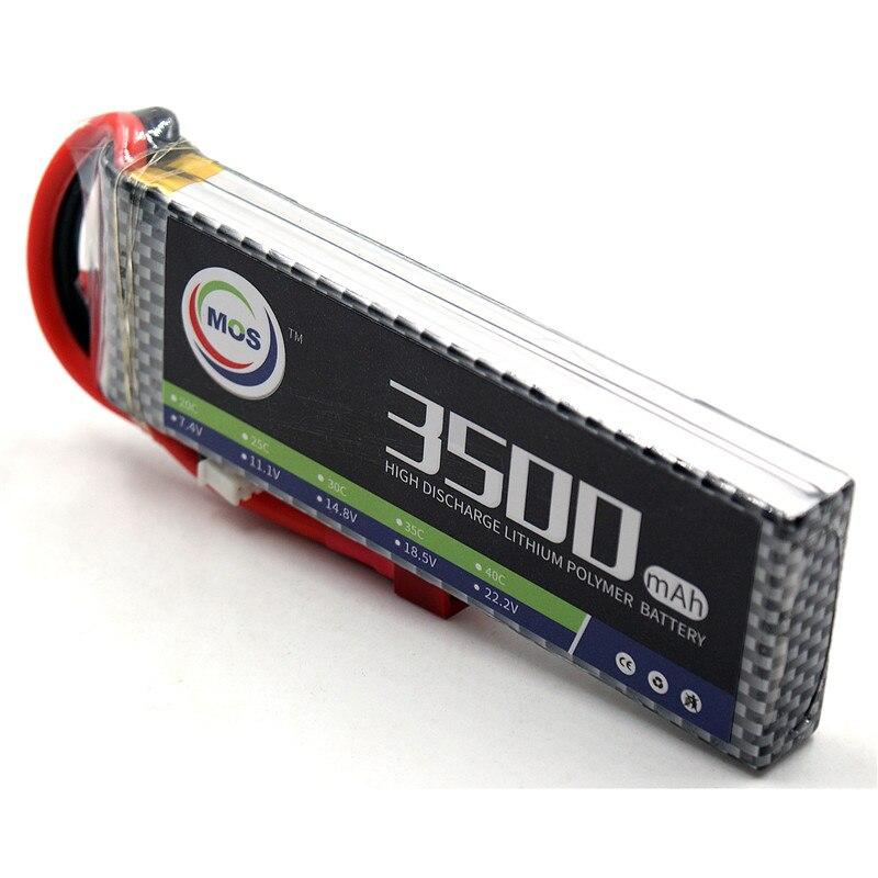 MOS RC Lipo battery 2S 7.4v 3500mAh 40C Max 80C Li-Po Batteries For RC Helicopter Airplane Car Boat Quadcopter batteries mos rc airplane lipo battery 3s 11 1v 5200mah 40c for quadrotor rc boat rc car