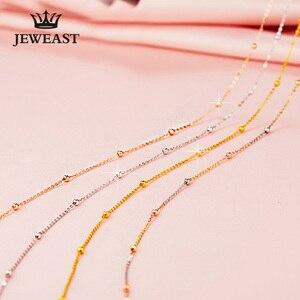 Image 3 - 18k זהב טהור שרשרת לבן צהוב עלה שרשרת חרוזים לנשים ילדה מתנת תכשיטים ניו חמה למכור יוקרתי למעלה טוב נחמד כמו