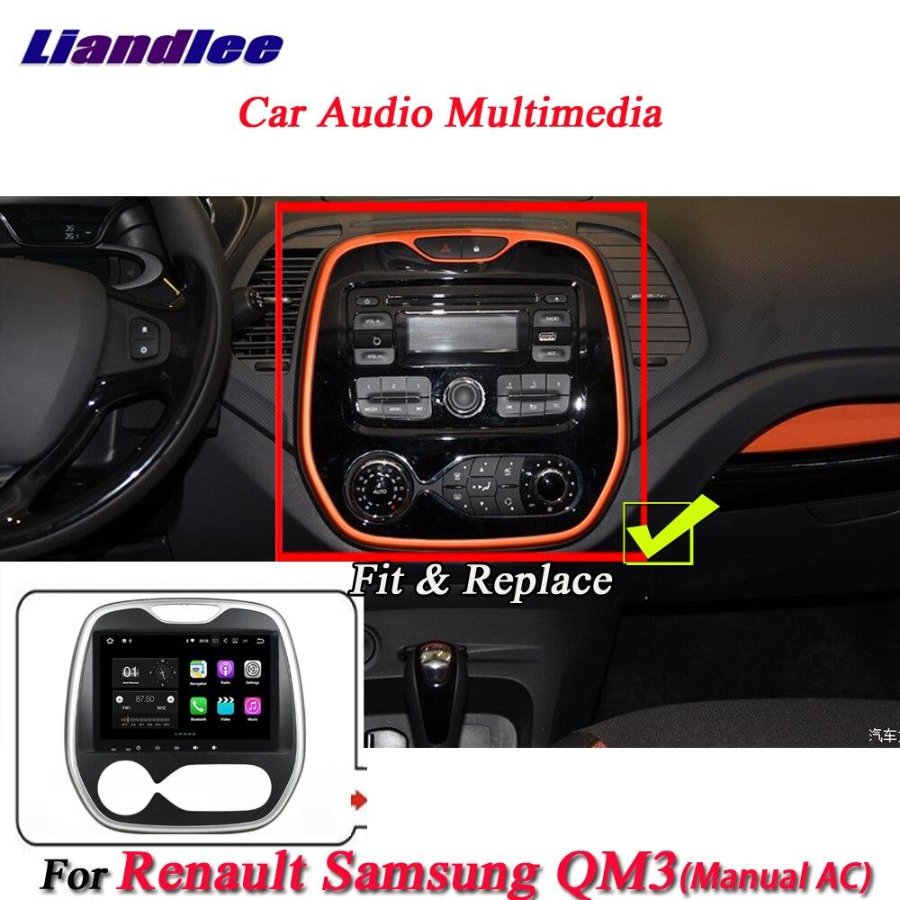 Système Android de voiture Liandlee pour Renault Samsung QM3 manuel AC Radio BT GPS Navi carte Navigation écran multimédia pas de lecteur DVD