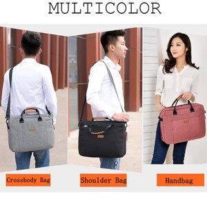 Image 3 - Tuval iş çantası ofis çantaları erkekler için Messenger iş gezisi dosya paketi Laptop çantası Breefcase naylon erkek çanta çalışmak için