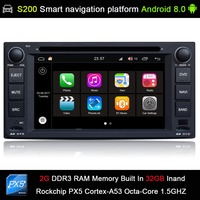 Android 8.0 system PX5 Octa 8 Core CPU 2G Ram 32GB Rom Car DVD Radio GPS Navigation for Toyota Corolla E120