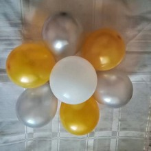 Small silver baloons 100pcs/lot 5inch 1.2g round gold ballon happy birthday party decorations adult wedding balloon kids toys